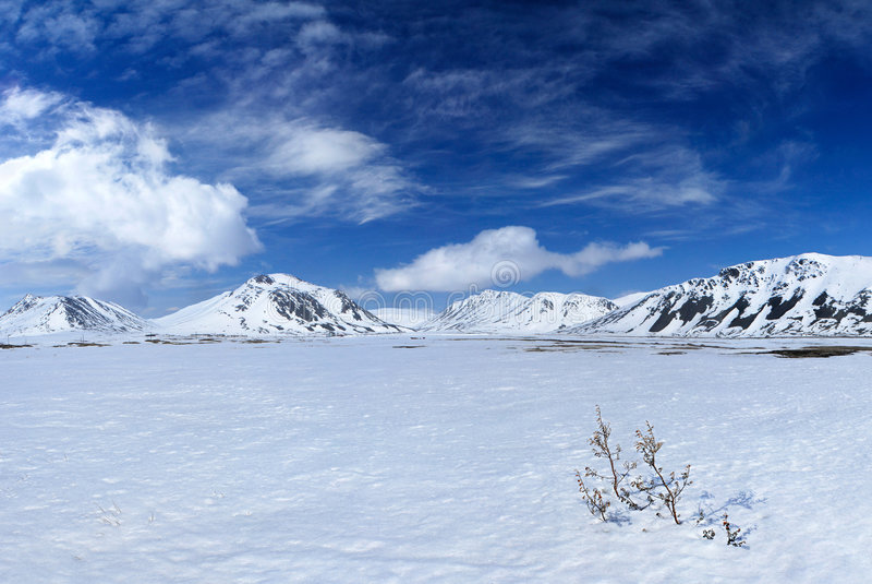 гора ландшафта chukchi стоковое фото
