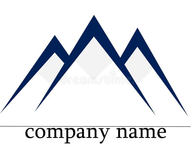 гора логоса льда стоковые фотографии rf