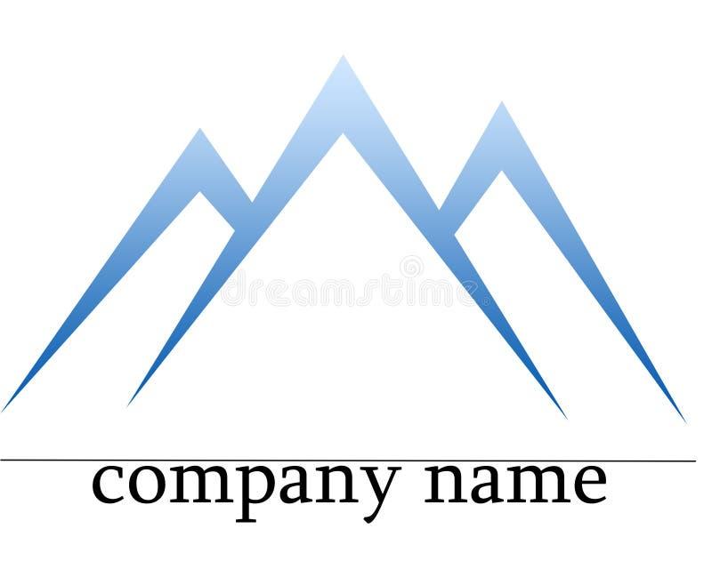 гора логоса льда стоковая фотография