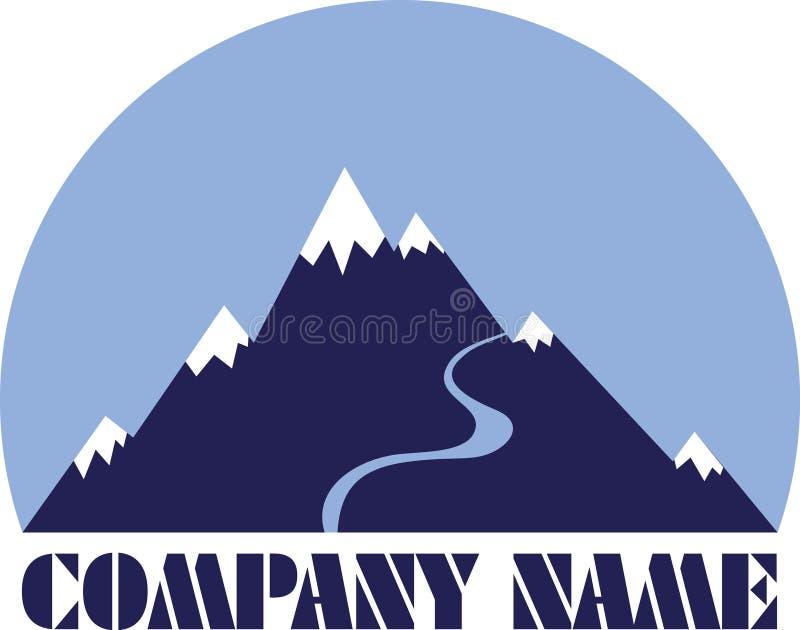 гора логоса иллюстрация вектора