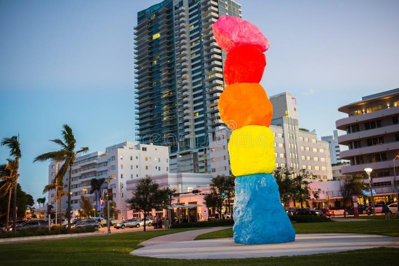 Гора Майами в Miami Beach стоковое изображение