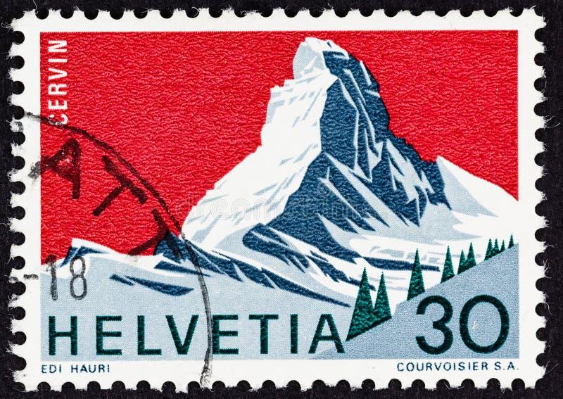Гора Маттерхорна швейцарская Альп стоковые изображения