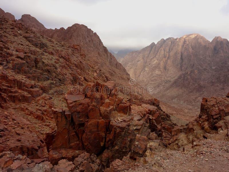 Гора Моисея Египет стоковая фотография