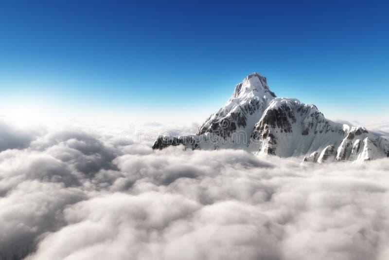 Гора над облаками стоковая фотография rf