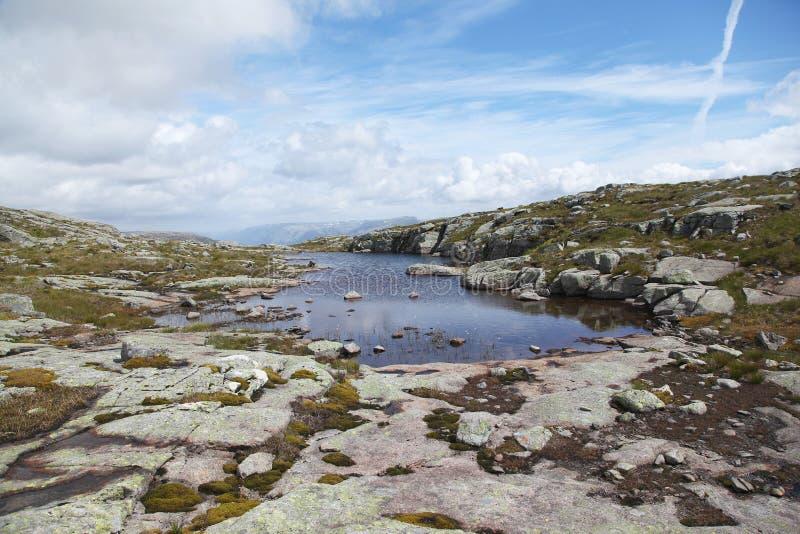 гора Норвегия озера стоковая фотография