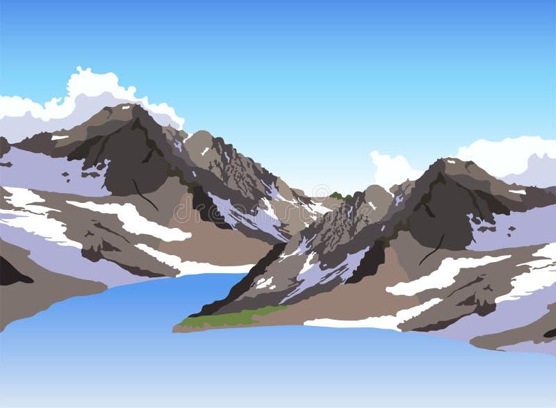 гора озера иллюстрация штока