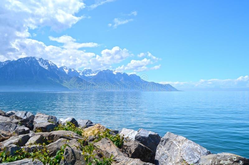 гора озера geneva стоковое фото rf