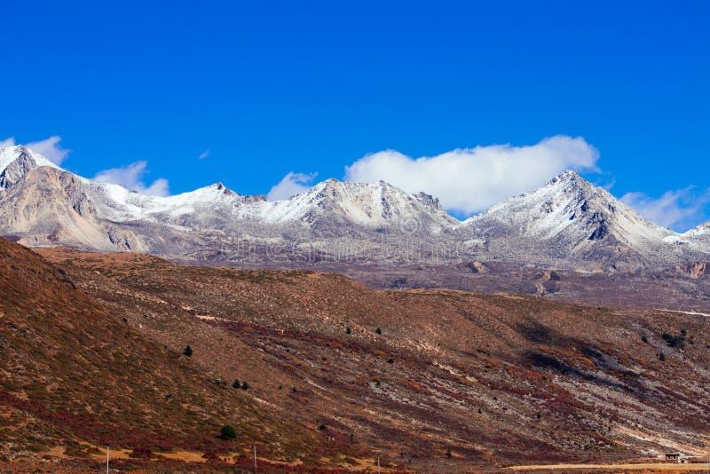 Гора осени утра стоковое фото