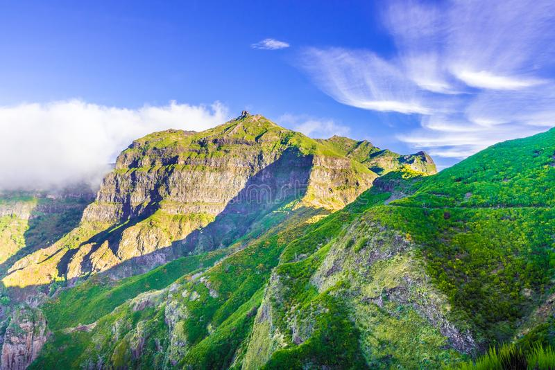Гора острова Мадейры стоковые изображения