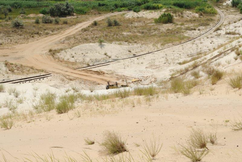 Гора от белого формируя песка стоковые изображения rf