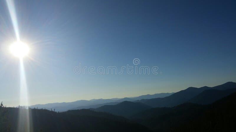 Гора после sunrisr стоковые изображения