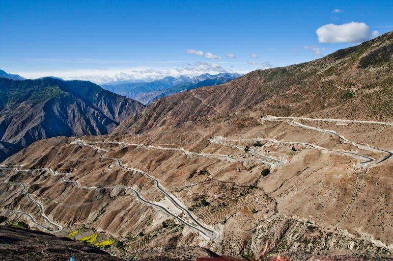 Гора плато Китая западная стоковая фотография rf