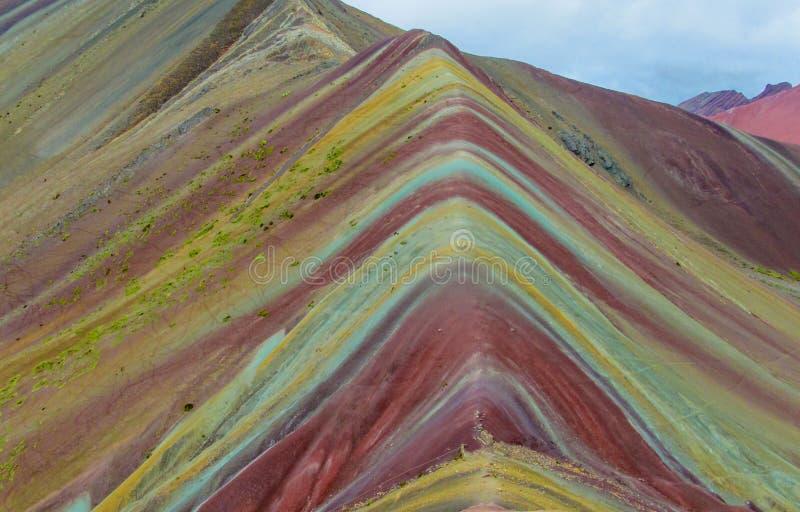 Гора радуги 7 цветов Siete Colores около Cuzco стоковая фотография rf