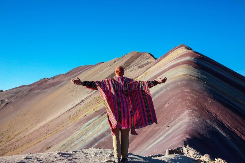 Гора радуги стоковое изображение rf