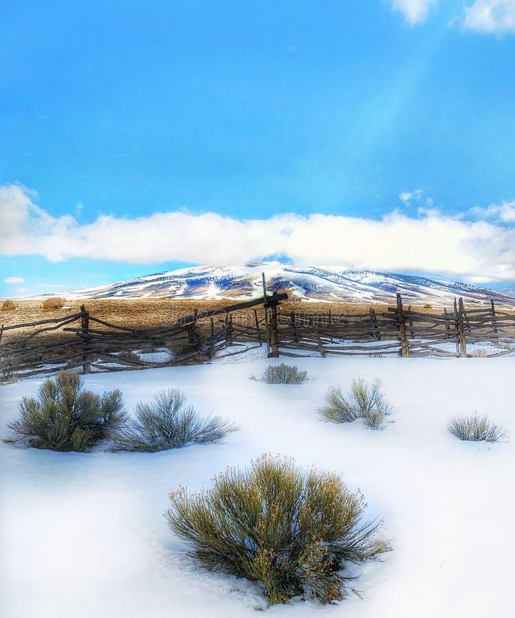 Гора Сан Антонио в зиме стоковая фотография