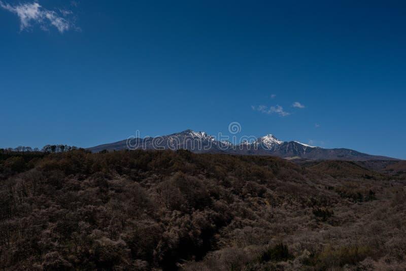 Гора снега в Yamanashi стоковая фотография