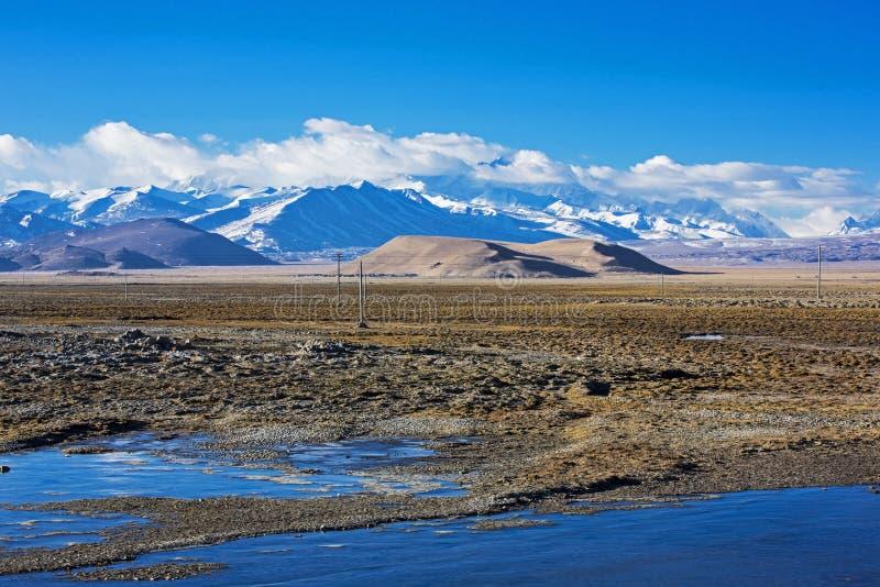Гора снега плато стоковые изображения rf
