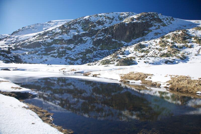 Гора снежка озера стоковые изображения rf
