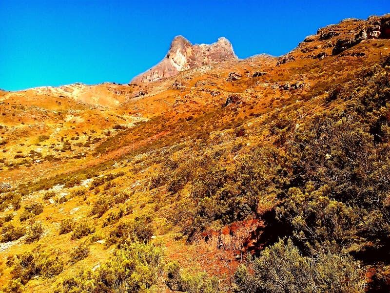 Гора с ясным небом стоковая фотография rf