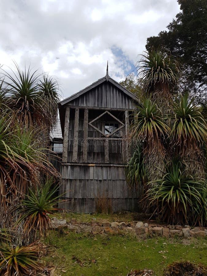 Гора Тасмания Austrailia вашгерда хижины Густава Weindorf историческая стоковое фото