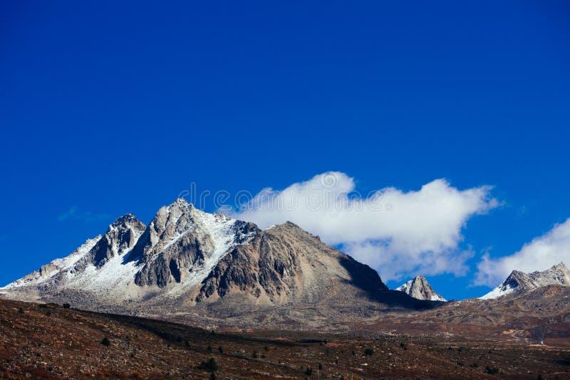 Гора тибетца осени стоковые фотографии rf