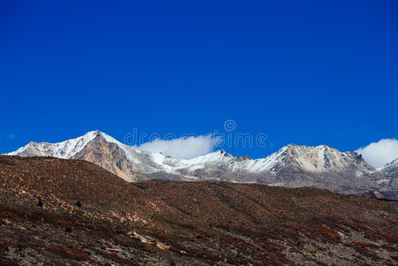 Гора тибетца осени стоковое фото