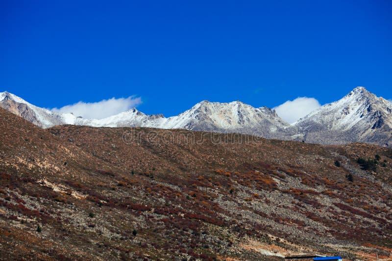 Гора тибетца осени стоковая фотография