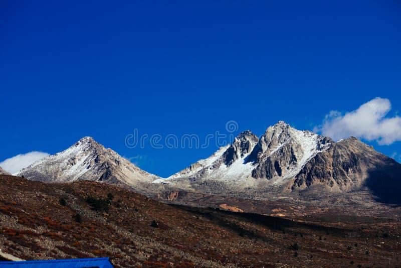 Гора тибетца осени стоковое изображение