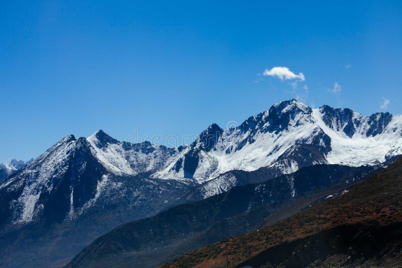 Гора тибетца осени стоковые изображения rf