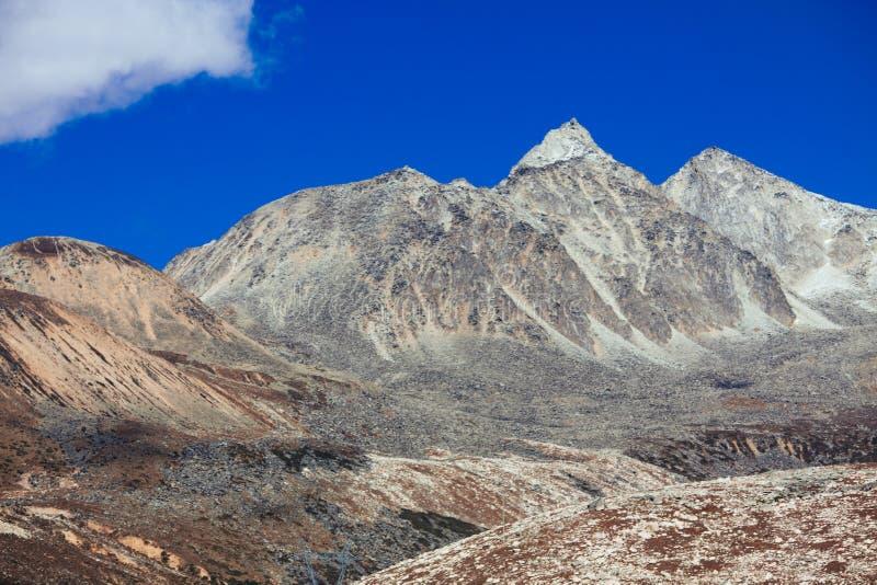 Гора тибетца осени стоковое изображение rf