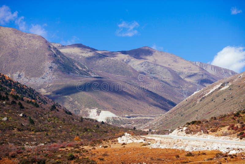 Гора тибетца осени стоковая фотография rf