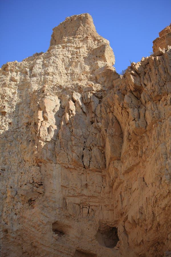 Гора утеса пустыни в Ein Gedi, Израиле стоковое изображение