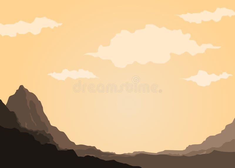 Гора утеса иллюстрация штока