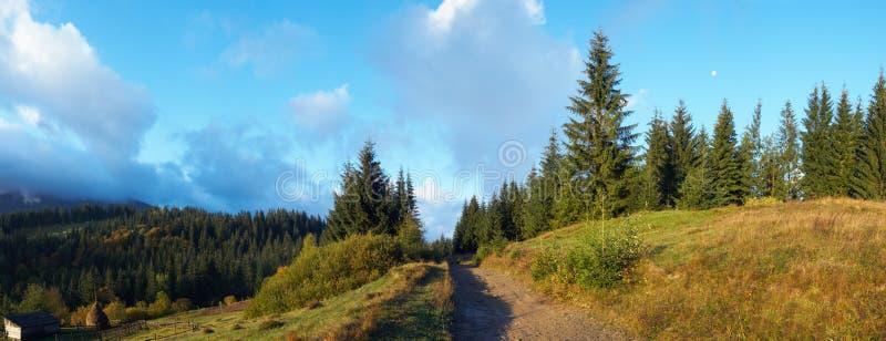 гора утра осени стоковое изображение