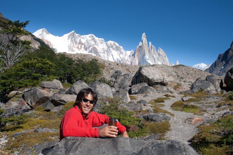гора человека cerro завтрака около torre стоковая фотография rf