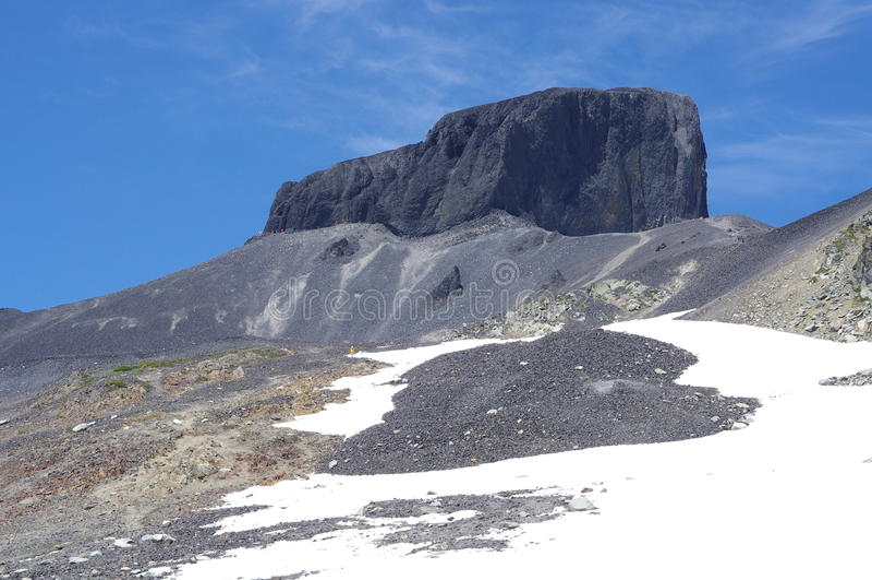 Гора черного бивня вулканическая стоковые изображения rf
