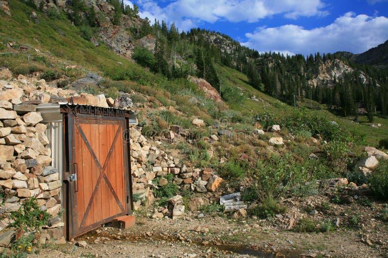 гора 2 шахт старая стоковое фото rf