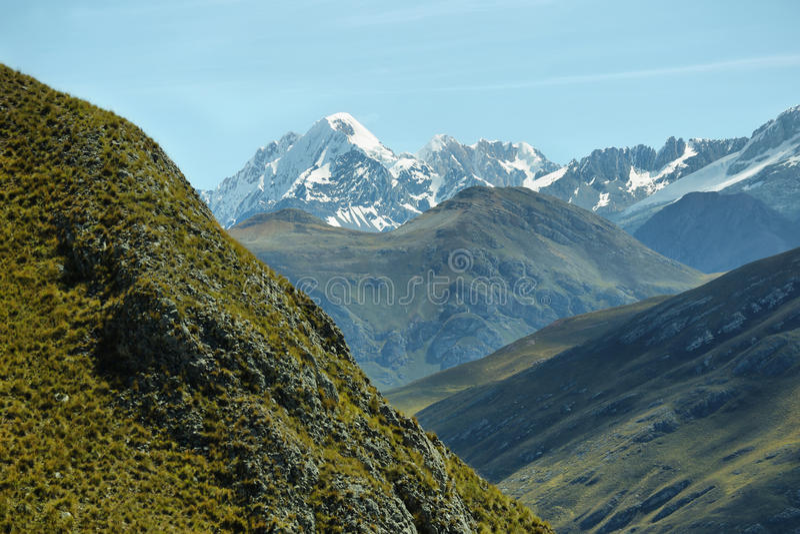 Гора Apu Pariacaca внутри стоковые фото