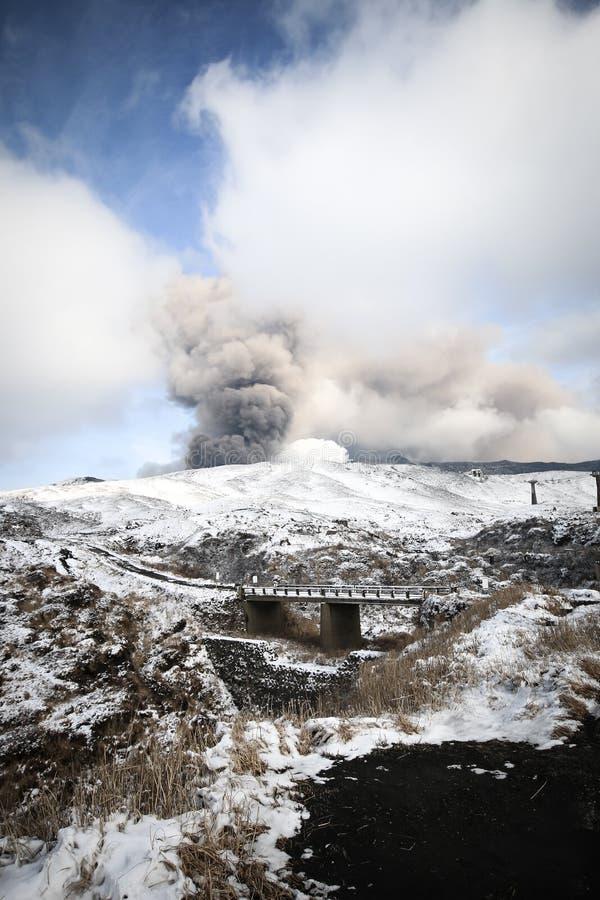 Гора Aso стоковые фотографии rf
