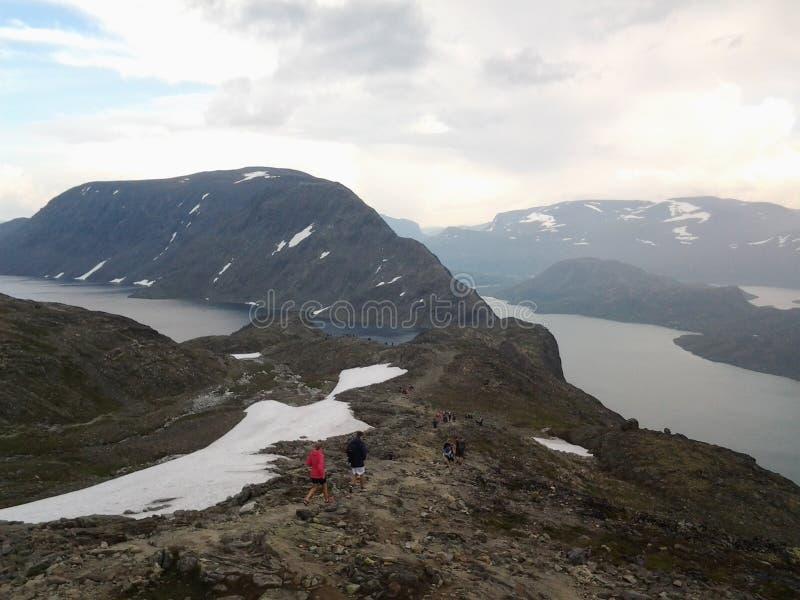 Гора Besseggen Норвегия стоковые изображения rf
