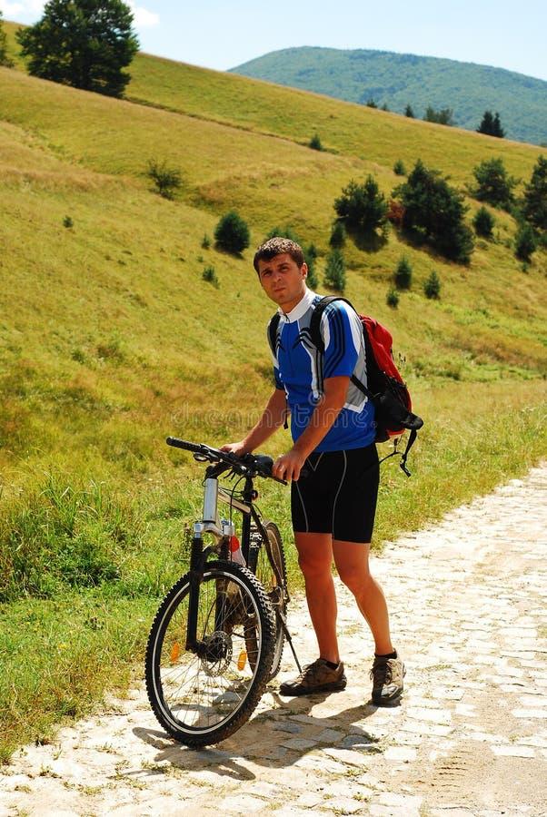 гора bike стоковая фотография rf