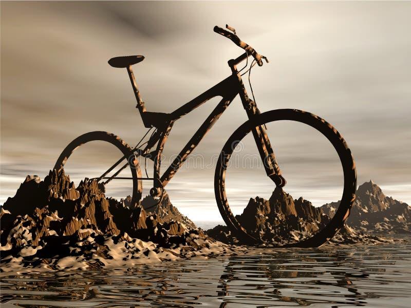 гора bike бесплатная иллюстрация