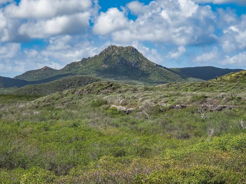 Гора Christoffelberg - взгляды Curacao национального парка Christoffel стоковое изображение