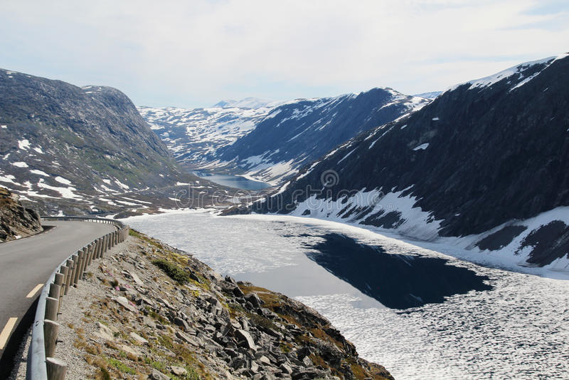 Гора Dalsnibba, Норвегия стоковое изображение