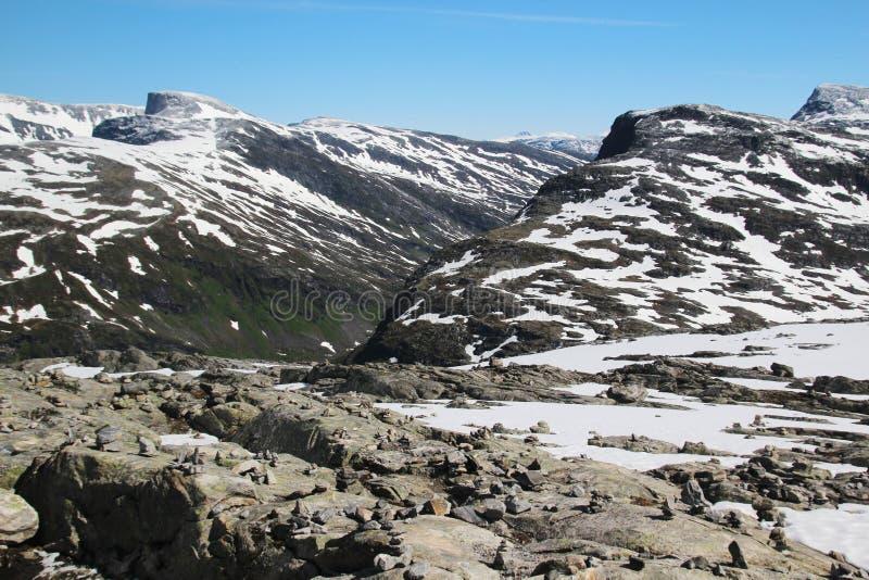 Гора Dalsnibba, Норвегия стоковое изображение rf