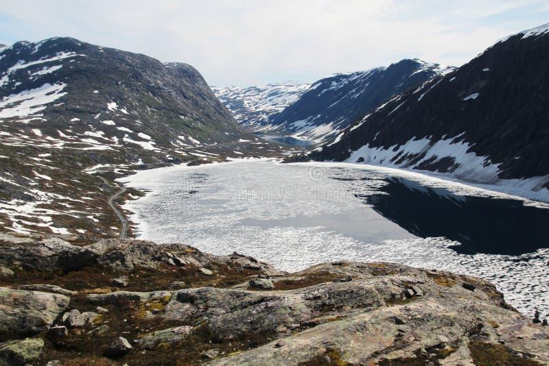 Гора Dalsnibba, Норвегия стоковые фото