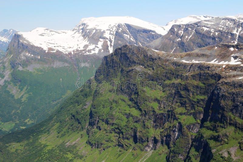 Гора Dalsnibba, Норвегия стоковая фотография rf