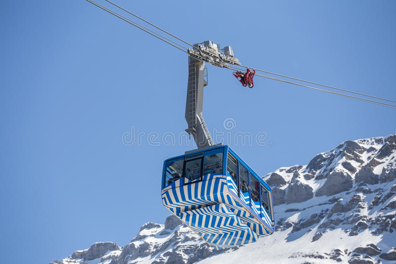 гора furnicular Швейцария saentis стоковое изображение rf