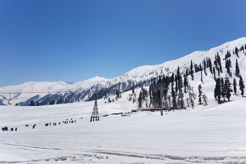 Гора Gulmarg, Кашмир, Индия стоковые фотографии rf