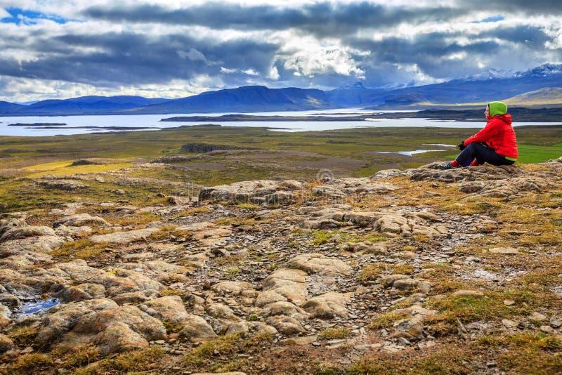 Гора Helgafell стоковые фотографии rf